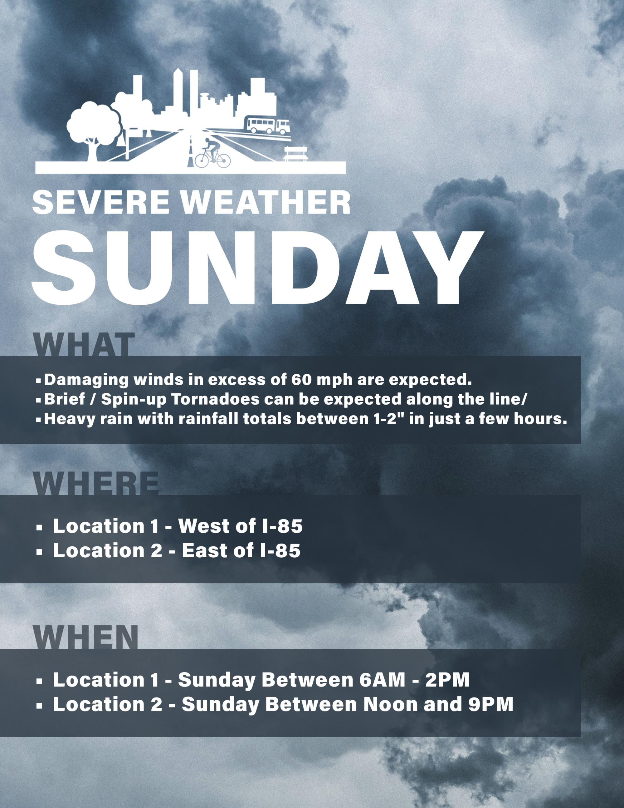 Severe Weather Sunday